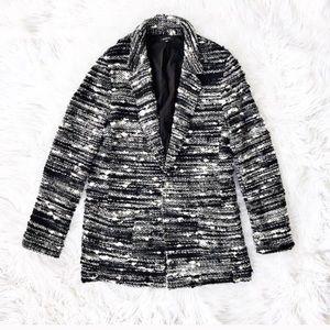 Drew open front boucle jacket